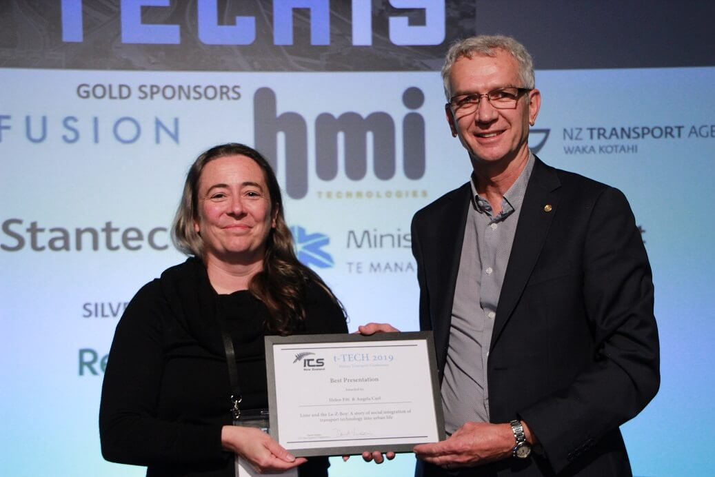 Helen Fitt winner of best presentation T-Tech Conference 2019